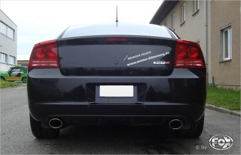 Fox Duplex Auspuff Sportauspuff Dodge Charger 6, 1l SRT8 317kW Bj.09-