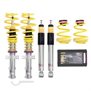 KW Gewindefahrwerk V2 Variante 2 INOX Audi A4 B6 B7 8E 8H QB6 Limo Bj. 11/00-