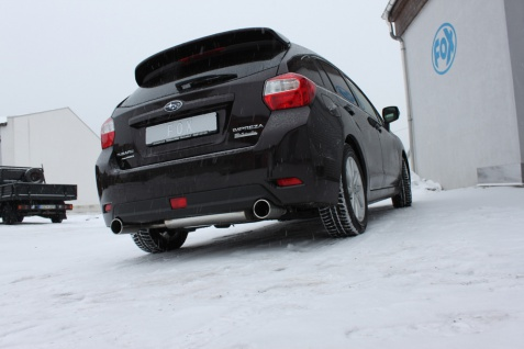 Fox Duplex Auspuff Sportauspuff Endschalldämpfer Subaru Impreza GP 4x4