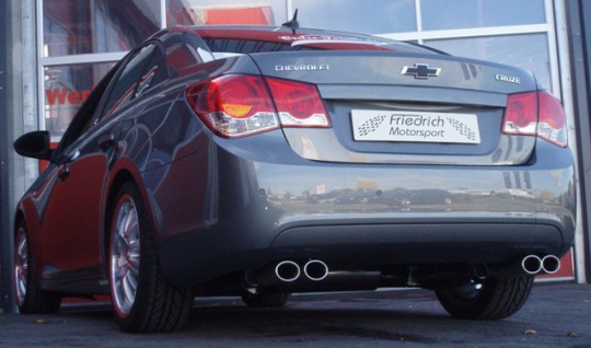 Friedrich Motorsport Gruppe A Duplex Sportauspuff Anlage Chevrolet Cruze Limo