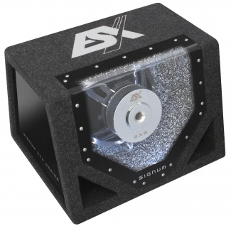 ESX SIGNUM SXB-302 30 cm Single Bandpass System 4 Ohm 300 WRMS Subwoofer Kiste