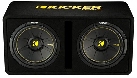 KICKER Dual-Bassreflexbox DCompC122 Dual doppel Subwoofer 2x30 cm 1.200 Watt MAX - Vorschau 2