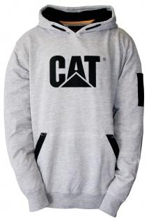 CAT Caterpillar Kapuzenpullover Pullover Pulli EC hellgrau Handytasche Gr. XXL