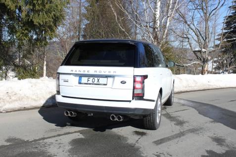 Fox Duplex Auspuff Sportauspuff Endschalldämpfer Land Rover Range Rover IV 4, 4 D