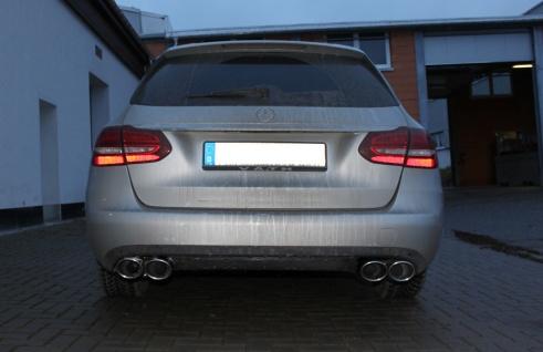 Fox Auspuff Sportauspuff Duplex Sportendschalldämpfer Mercedes C-Klasse W/S205
