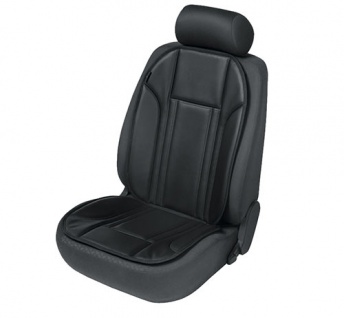 Sitzaufleger Sitzauflage Ravenna schwarz Kunstleder Sitzschoner Audi A3