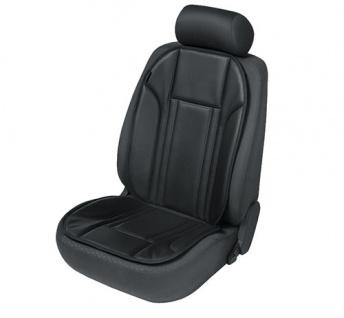 Sitzaufleger Sitzauflage Ravenna schwarz Kunstleder Sitzschoner PEUGEOT 307