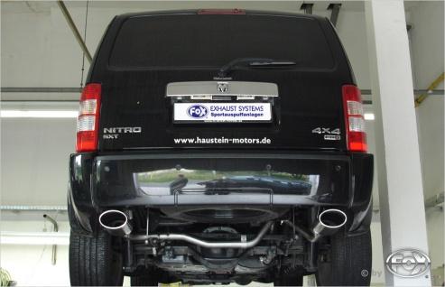 Fox Duplex Auspuff Sportauspuff Endrohrsystem Dodge Nitro 3, 7l 151/157kW 4, 0l