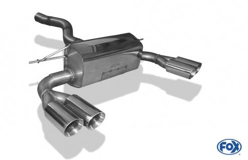 Fox Duplex Auspuff Sportauspuff Endschalldämpfer BMW F32/F33/F36 - 435i M-Paket