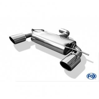 Fox Auspuff Sportauspuff Duplex Sportendschalldämpfer VW Golf V GTD 2, 0 TDI