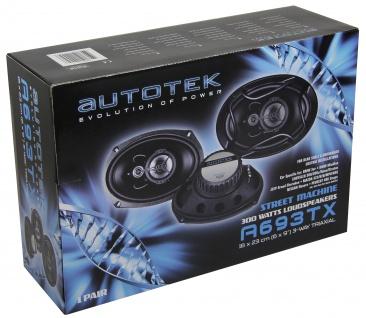 Autotek A693TX 15x23 cm 6x9 Triax Auto Lautsprecher 600 Watt Max.