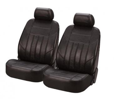 Sitzbezug Sitzbezüge Ledersitzbezug aus echtem Leder schwarz VW Polo Crosspolo