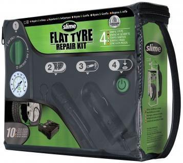 Slime Reifen Pannenset mit Kompressor+Dichtmittel Fit Tire Repair Repair Kit
