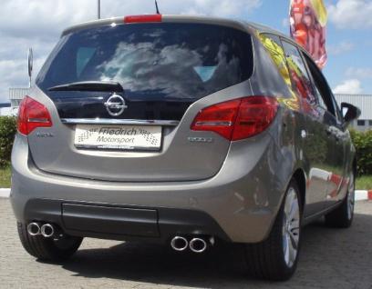 Friedrich Motorsport Gruppe A Duplex Sportauspuff Anlage Opel Meriva B ab 10-