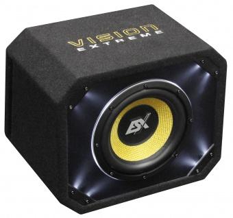 ESX VISION Bassreflex-Gehäusesub VE-250 Subwoofer 800W Basskiste Bass 25cm