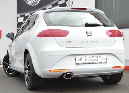 Ulter Sportauspuff 1 x 120x80mm eingerollt Seat Leon FR ab 05 1.4l bis 2.0 FSI