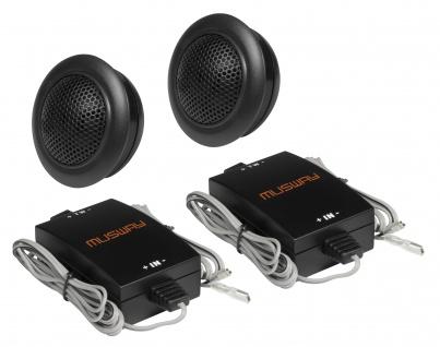 MUSWAY 25 mm Tweeter MQ-6.2T System Auto Car PKW Hifi Boxen Lautsprecher Paar
