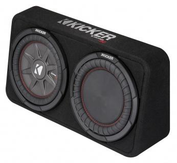 KICKER Subbox TCompRT104 25cm Auto Car PKW Hifi Subwoofer Bassbox 800 Watt MAX