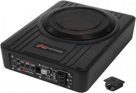 RENEGADE Aktiv-Box Verstärker Subwoofer 20cm Unter Sitz flach Bass System RS800A