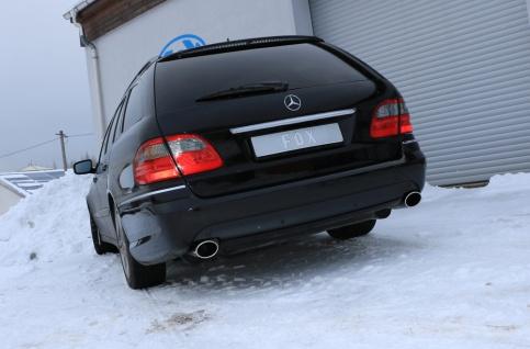 Fox Duplex Auspuff Sportauspuff Komplettanlage Mercedes E-Klasse S211 Kombi - Vorschau 4