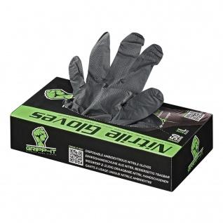 Nitril Einweghandschuhe Einweg-Handschuhe Einmalhandschuhe Gripp-IT Gr.L schwarz