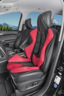Premium Sitzaufleger X-Race Sitzauflage schwarz rot Kunstleder Sitzschoner