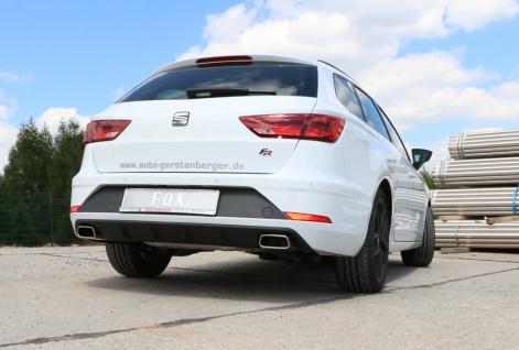 Fox Duplex Sportauspuff Sportendschalldämpfer Seat Leon ST 5F nicht 4-drive 2, 0