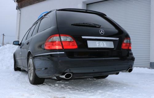 Fox Duplex Auspuff Sportauspuff Komplettanlage Mercedes E-Klasse S211 Kombi - Vorschau 3