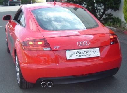 Friedrich Motorsport 76mm Auspuff Sportauspuff Audi TT 8J Frontantrieb Bj.06- Coupe, Roadster - Vorschau 2
