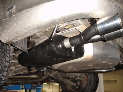 Fox Duplex Auspuff Sportauspuff Sportendschalldämpfer Opel Vectra B J96