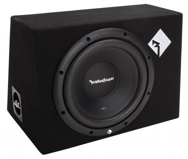 ROCKFORD FOSGATE PRIME Subbox R1-1X10 25cm Subwoofer Bassbox 200 WRMS 4 Ohm