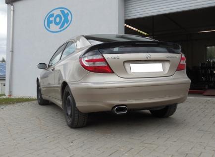Fox Auspuff Sportauspuff Mercedes C-Klasse CL203 1, 8l 105kW