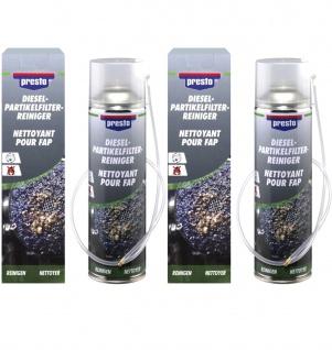 2x Presto Dieselpartikelfilter Reiniger DPF Reiniger mit Sonde 400 ml Rußfilter