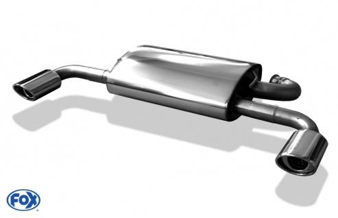 Fox Duplex Auspuff Sportauspuff Endschalldämpfer Mitsubishi Outlander CWO 06-