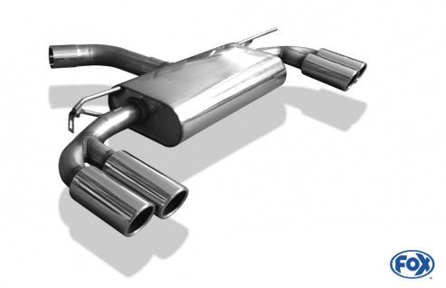 Fox Duplex Auspuff Sportauspuff Endschalldämpfer Seat Leon 5F 1, 8l 132kW 2, 0 TDI