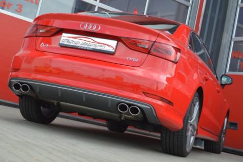 Friedrich Motorsport Gruppe A Duplex Sportauspuff Anlage Audi A3 8V Limo 1.4 2.0