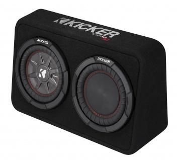 KICKER Subbox TCompRT84 20cm Auto Car PKW Hifi Subwoofer Bassbox 600 Watt MAX