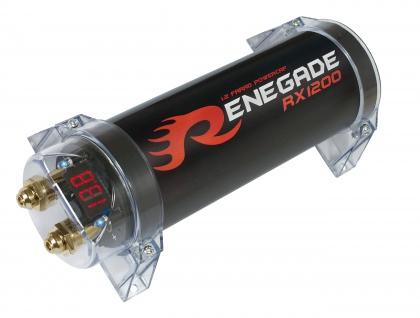 RENEGADE Pufferelko 1.2 F Farad RX1200 Farad Powercap Kondensator CarHifi Auto