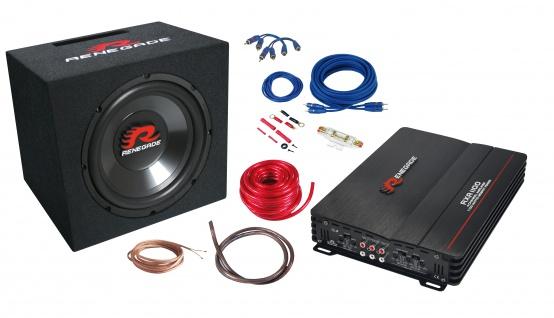 RENEGADE Watt Auto Basspack Anlage Car PKW KFZ Hifi Bass Komplett Set RBK1100XL