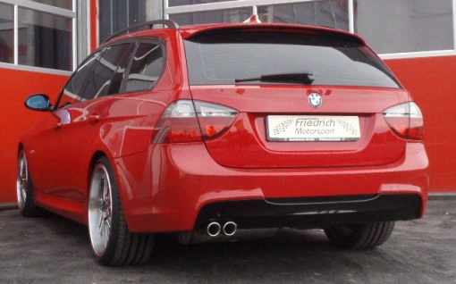 Friedrich Motorsport 70mm Auspuff Sportauspuff BMW E91 Bj. 2005-2012