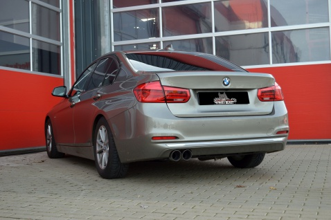 Streetbeast Sportauspuff 76mm Soundgenerator BMW 4er F32 F33 F36 Coupe Cabrio