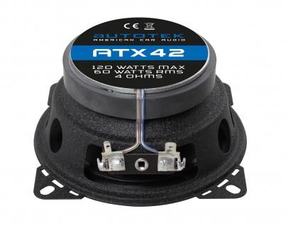 AUTOTEK Koax-System 10cm Lautsprecher 2-Wege Koax 10cm ATX-42 240 Watt max.Paar
