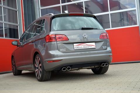Friedrich Motorsport 76mm Duplex Sportauspuff Anlage VW Golf VII Sportsvan 2.0l