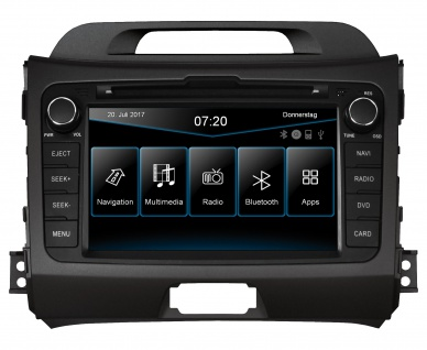 ESX Naviceiver VN720-KI-SPORTAGE Kia Sportage SL 2010 - 2015 DVD Bluetooth Navi