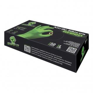 Nitril Einweghandschuhe Einweg-Handschuhe Einmalhandschuhe Gripp-IT Gr.L grün