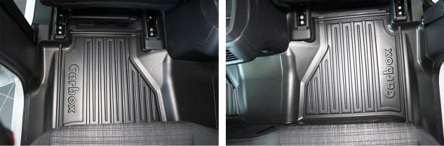 Carbox FLOOR Fußraumschale Gummimatte Fußmatte Mercedes X-Klasse hinten komplett