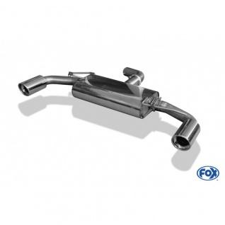 Fox Auspuff Sportauspuff Duplex Sportendschalldämpfer VW Golf VI GTI - 1K