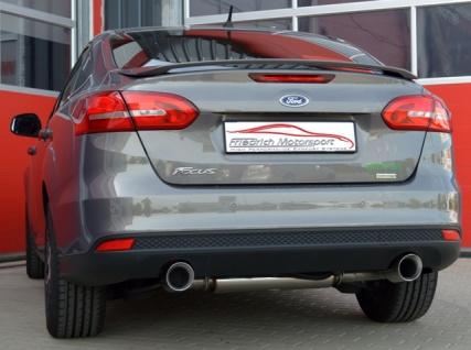 Friedrich Motorsport Duplex Auspuff Sportauspuff Ford Focus III Stufenheck 1.0l