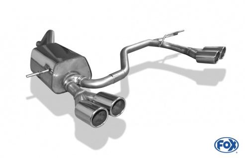 Fox Duplex Sportauspuff Endschalldämpfer Renault Clio IV 0, 9l 1, 2l 54kW 1, 5l D