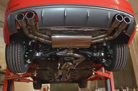 Friedrich Motorsport 76mm Auspuff Sportauspuff Audi S3 8V Limousine Quattro ab Bj.10/13